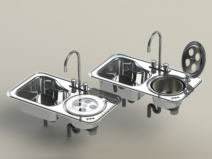 Multi Function Kitchen Sink with blender